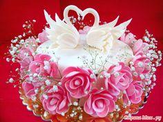 Мастер-класс тортика с лебедями на годовщину свадьбы + раскладка по продуктам и стоимости. Это мой 6 тортик из мастики.