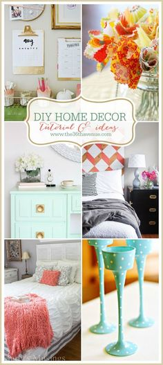 Diy Crafts Ideas : DIY Home Decor Projects and Tutorials at the36thavenue.com These are amazing!