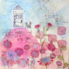 Jennifer Geldard - encaustic - The Beauty We Love