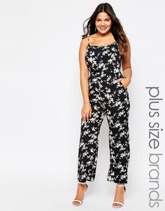 Praslin Plus Jumpsuit In Floral Print * Details can be found by clicking on the image.