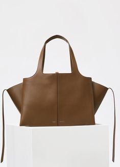 Medium Tri-Fold Bag in Supple Natural Calfskin - Fall / Winter Runway 2016   CÉLINE