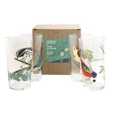 Oldham + Harper Birds Glasses Set of 4