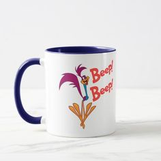 Road runner Side Profile. Regalos, Gifts. Producto disponible en tienda Zazzle. Tazón, desayuno, té, café. Product available in Zazzle store. Bowl, breakfast, tea, coffee. #taza #mug #LooneyTunes