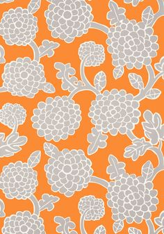 NIKKO, <br />                                     Tangerine and Grey, <br />                                     T16013, <br />                                     Collection Resort from Thibaut