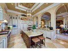 Beautiful kitchen in this Mediterra home in Naples, FL.
