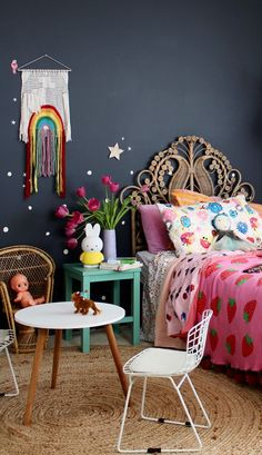 boho kids bedroom | girls bedroom ideas - shop the look on the blog www.fourcheekymonkeys.com