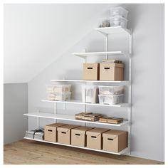 IKEA - ALGOT, Wall upright/shelves. **For the closet under the stairs.