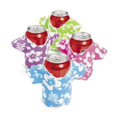 Tropical Shirt Can Covers (1 dz) by Fun Express. $9.50. Foam.. Fits 12 oz Cans.. Covers Measure 4 3/4 Inches.. 1 Dozen Tropical Shirt Can Covers.. Assorted Colors.. Give all of your soda a tropical flare with these Tropical Shirt Can Covers. These colorful covers are perfect for beach themes parties or luaus.