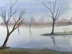 Watercolor Lake - By Bazza