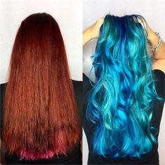 Makeover: Faded Red To Blissful Blue - Hair Color - Modern Salon
