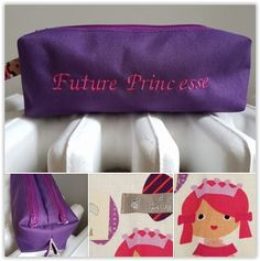 Trousse zip-zip princesse cousue par Moja Home Made - patron Sacôtin
