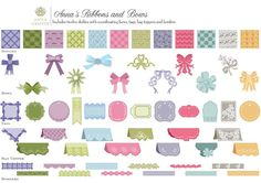 The Paper Boutique: Anna Griffin Ribbons and Bows Cricut Cartridge