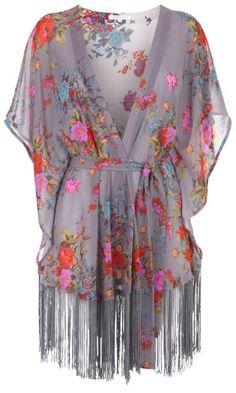 Fringed floral printed shawl | elfsacks