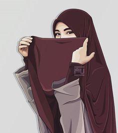 From hijab to niqab Hijab Niqab, Muslim Hijab, Hijab Chic, Muslim Girls, Muslim Women, Muslim Couples, Tmblr Girl, Muslim Pictures, Hijab Drawing