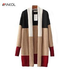 vancol 2016 Casual winter sweater striped long cotton ladies knitwear autumn long sleeve women loose knitted  oversize cardigan #Affiliate