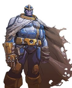 Thanos Concept Art For The Infinity Gauntlet - Dustin Weaver
