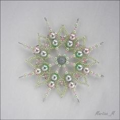 VK is the largest European social network with more than 100 million active users. Unique Christmas Ornaments, Snowflake Ornaments, Beaded Ornaments, Christmas Star, Christmas Tree Decorations, Snowflakes, Christmas Crafts, Beaded Jewelry Patterns, Beading Patterns
