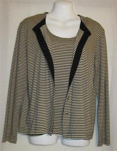 Starting bid .99 cents  Chicos Size 1 Blouse NEW Womens Small Shirt NEW Ladies Size 8 Top Lot of 2 Tops