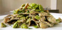 lasagne di fave all'ortica con baccalà e carciofi 1
