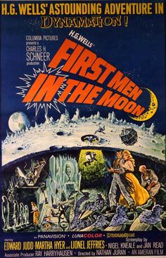 """""""First Men In the Moon"""" movie poster."""
