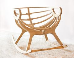 Wooden Rocking Chair by TreeSky