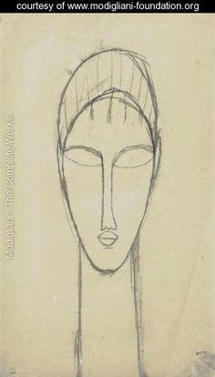 Tete De Face 2 - Amedeo Modigliani - www.modigliani-foundation.org