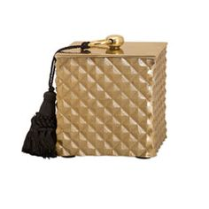 Nikki Chu Gold Tassel Box