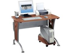 Small Dark Honey Computer Desk