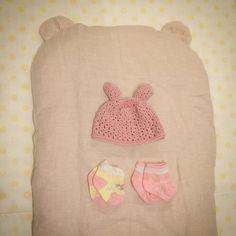 トッポンチーノとうさみみ帽子  #トッポンチーノ #出産準備 #ベビーニット