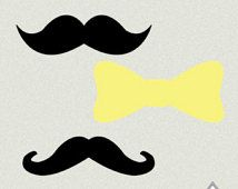 Printable Bows and Mustaches, Gender Reveal Party, Photo Props, Banner, Printable Mustaches, Printable PDF, gender reveal shower decor