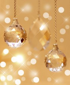 hanging crystal ornaments For the ceremony Hanging from trellis
