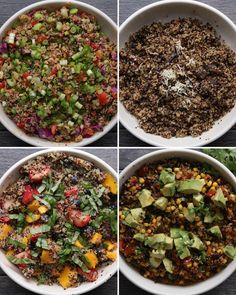 Quinoa Salad 4 Ways