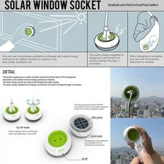 Solar Window Socket By Kyuho Song Boa Oh Most Urgent Gizmo Need So Far