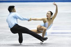 Wenjing Sui and Cong Han of China compete in the Pairs free skating during the day three of the ISU World Team Trophy at Yoyogi National Gymnasium on April 18, 2015 in Tokyo, Japan. (April 17, 2015 - Source: Atsushi Tomura/Getty Images AsiaPac)