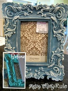 Home Goods Frame Makeover with Chalk Paint® decorative paint by Annie Sloan | By Artsy Chicks Rule