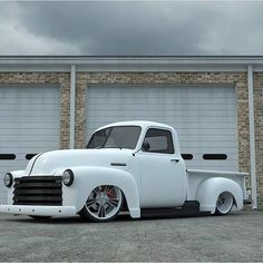 Gotta love a single color white truck...especially a Chevy 3100 setting low....