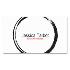 Zen circle in black business card for yoga healthcare natural shop zen circle in black and white business card created by personalize it with photos text or purchase as is colourmoves