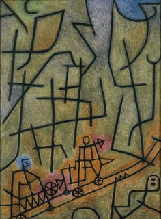 Paul Klee - Conquest of the Mountain, 1939.                                                                                                                                                                                 More