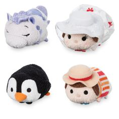 D23 Expo Exclusive Tsum Tsum Sets July 2017 - Mary Poppins Tsum Tsum set. The set consists of 4 Tsum Tsums including Mary Poppins, Bert, a Carousel House and a Penguin. The set is LE 1000 and will retail for $29.95 per set.