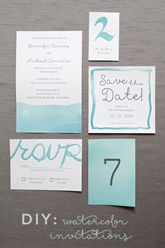 DIY Wedding // Learn how to watercolor all your wedding day stationary with our super detailed step by step tutorial!