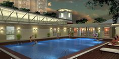 Swimming Pool at Aster Court club house, New Gurgaon Real Estate Development, News India, Aster, Carnations, Modern Architecture, Swimming Pools, Floor Plans, Building, Outdoor Decor
