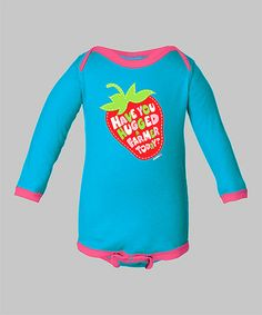 Take a look at this Aqua 'Have You Hugged a Farmer' Bodysuit - Infant by International Harvester on #zulily today!