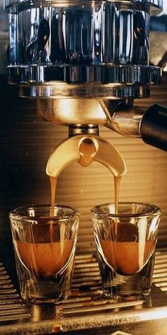 Coffee shots from a #coffee maker