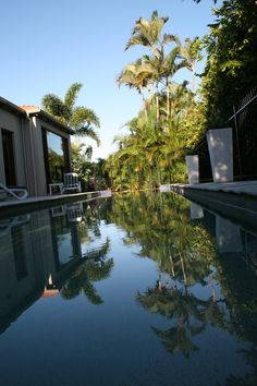 15m lap pool with spa/jacuzzi for a refreshing swim. Luxurious home in exclusive Noosa Heads on Australia's #Sunshine Coast, pristine beaches, 4 swimming pools, cafes, restaurants, world class golf, tennis, day spa. #Australia
