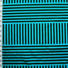 Width: 60'' Color: Black/Turquoise Per Yard Price: $13.00 Description: Four Way Stretch Nylon Spandex