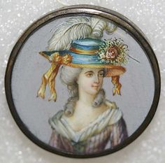 Button, French, 1775, ivory, rhinestones, metal