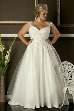 Discount A Line Plus Size Wedding Dresses Cheap Sweetheart Neckline Cap Sleeves Lace Appliques Formal Lady Bridal Gowns One Shoulder Wedding Dress Online Wedding Dresses From Rosemarybridaldress, &Price; Wedding Dress Shopping, Cheap Wedding Dress, Wedding Dress Styles, Wedding Attire, Bridal Dresses, Lace Wedding, Dream Wedding, Trendy Wedding, Casual Wedding