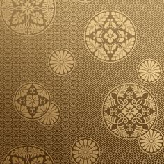 Bradbury Japanese Wallpaper | Kazume in Gold Burlap