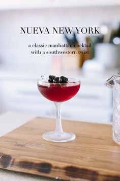 this cocktail uses tequila and red wine instead of whiskey and vermouth to create a southwestern inspired manhattan