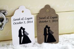 Wedding Couple Favor Tags Perfect for by SillyLoveSongCustoms